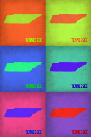 Tennesse Pop Art Map 1 Plastic Sign by  NaxArt