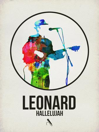 Leonard Watercolor Plastic Sign by David Brodsky