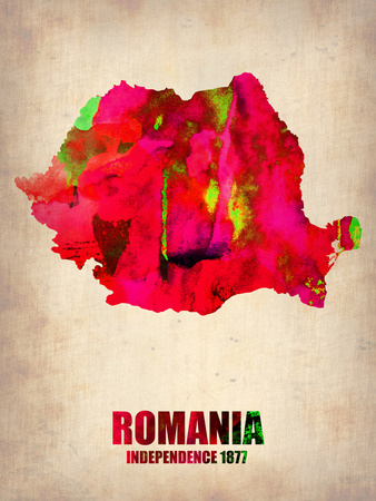 Romania Watercolor Poster Plastic Sign by  NaxArt