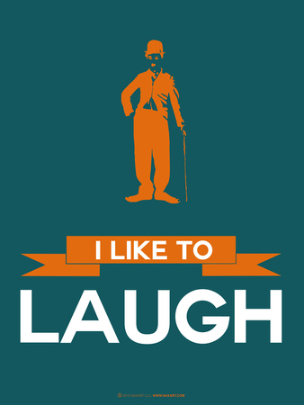 I Like to Laugh 2 Plastic Sign by  NaxArt