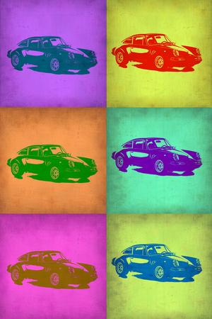Porsche Pop Art 2 Plastic Sign by  NaxArt