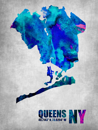 Queens New York Plastic Sign by  NaxArt