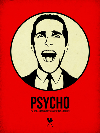 Psycho 1 Plastic Sign by Aron Stein