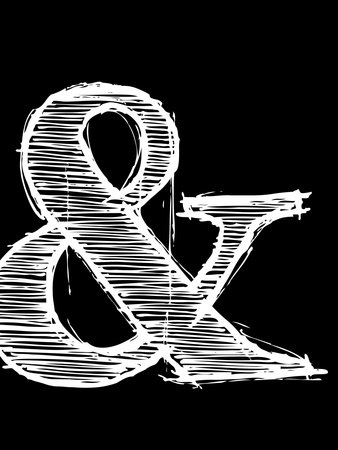 Ampersand 2 Plastic Sign by  NaxArt