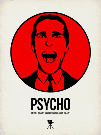 Psycho 2 Plastic Sign by Aron Stein