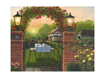 Dinner for Two - Rose Cottage Poster by Richard Harpum