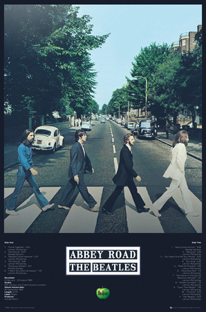 The Beatles Abbey Road Tracks Poster