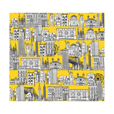 New York Yellow Prints by Sharon Turner