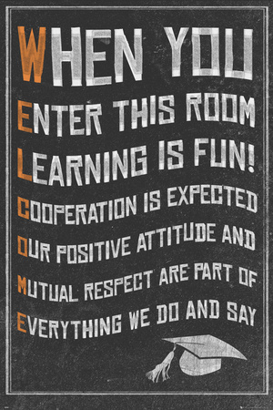 Welcome- New Classroom Motivational Poster Prints