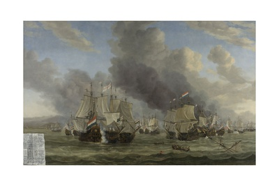 Battle of Livorno, 1653-64 Giclee Print by Reinier Zeeman