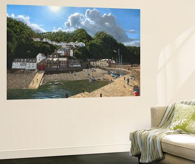 Summer Evening Clovelly North Devon Wall Mural by Richard Harpum