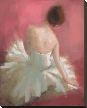 Ballerina Dreaming 1 Stretched Canvas Print by Patrick Mcgannon