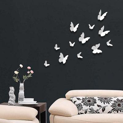 蝶(3D・白)ウォールステッカー・壁用シール ウォールステッカー