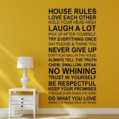 House Rules ウォールステッカー・壁用シール ウォールステッカー