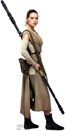 Rey - Star Wars VII: The Force Awakens Lifesize Standup Cardboard Cutouts