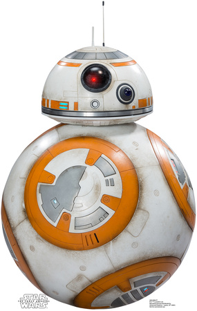 BB-8 Star Wars 7 The Force Awakens droid cardboard cutout standup gift merchandise