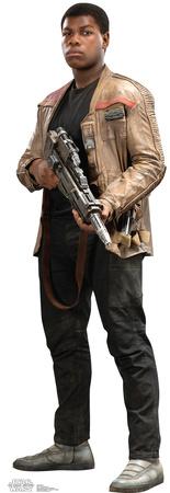 Star Wars Episode 7 Finn lifesize cardboard cutout standup Finn holding a gun
