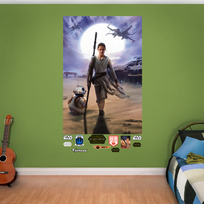 Rey Star Wars 7 VII wall mural merchandise