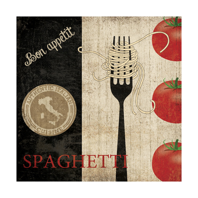 Big Night Out - Spaghetti Poster by Piper Ballantyne