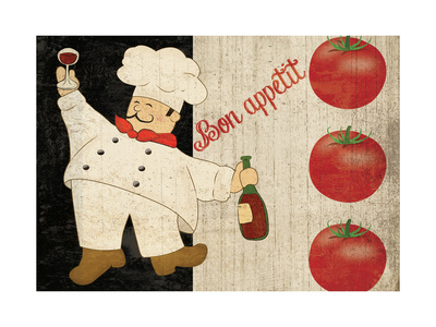 Bon Appetit Chef Posters by Piper Ballantyne