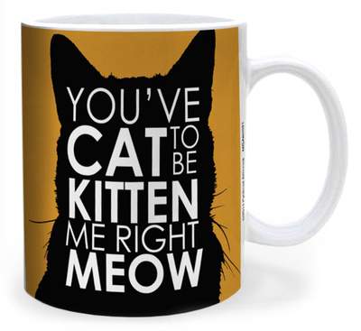 You've Cat to be Kitten Me Right Meow funny cat quote mug