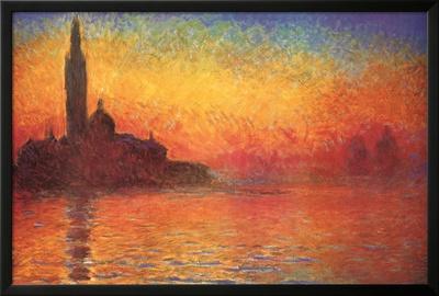 Monet Dusk Venice Print by Claude Monet