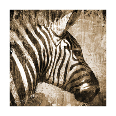 African Animals II - Sepia Prints by Eric Yang