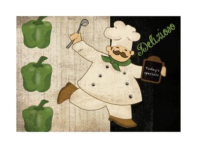 Chef Delizioso Prints by Piper Ballantyne
