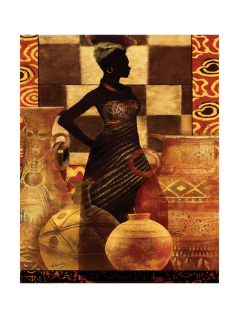 African Traditions I Posters by Eric Yang