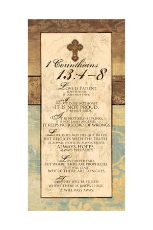 Corinthians 13:4-8 Art by Piper Ballantyne