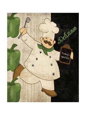 Delizioso Chef Prints by Piper Ballantyne