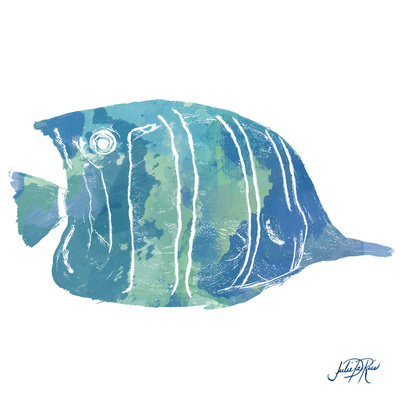 Watercolor Fish in Teal III Posters by Julie DeRice