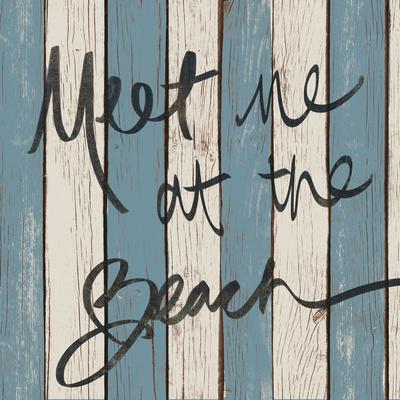 Beach Words II Print by Elizabeth Medley