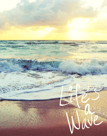 Life's a Wave 高品質プリント : ゲイル・ペック