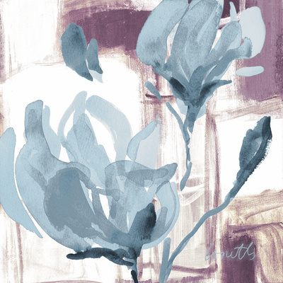 Blue Magnolias I Prints by Lanie Loreth