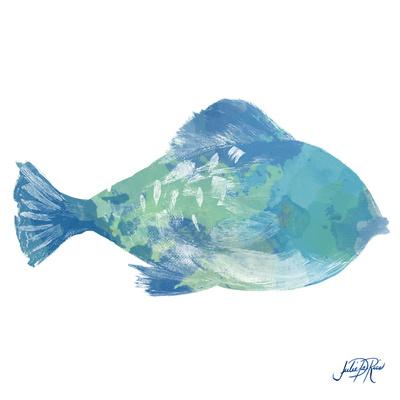 Watercolor Fish in Teal II Posters by Julie DeRice