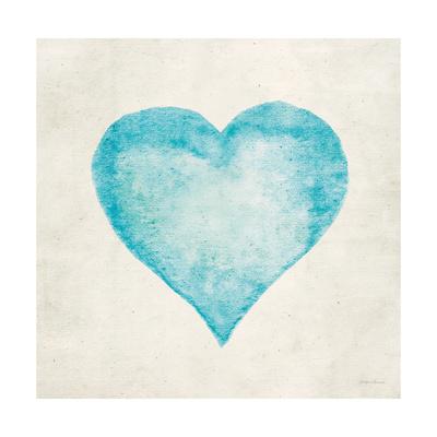 Blue Heart Print by Morgan Yamada
