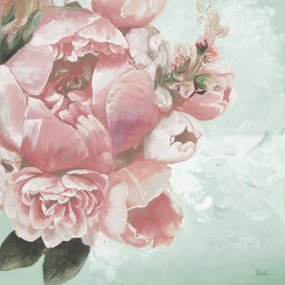 Pink Peonies I Poster by Patricia Pinto