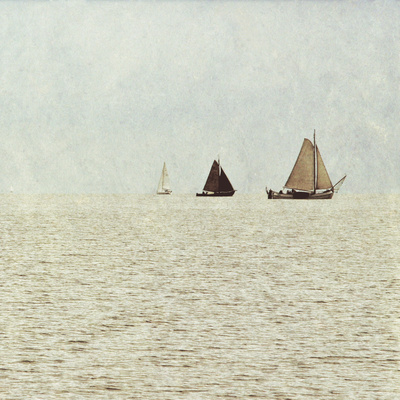 Sail Boats II Prints by Kathy Mansfield