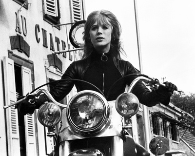 The Girl on a Motorcycle Photo