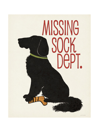 Missing Sock Dept Print by Jo Moulton