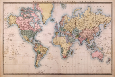 Map - Mercators Projection Poster