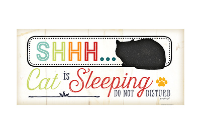 Shhh Cat Is Sleeping Prints by Jennifer Pugh