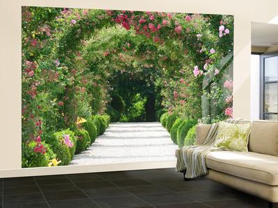 Rose Arch Garden Wallpaper Mural