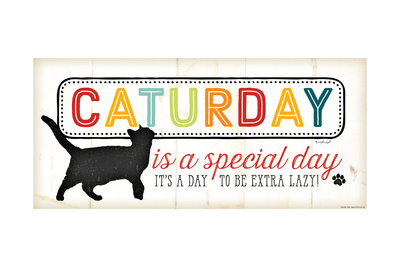 Caturday Is a Special Poster by Jennifer Pugh