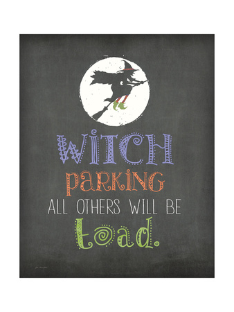 Witch Parking Prints by Jo Moulton