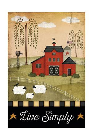 Primitive Live Simply Poster by Jennifer Pugh