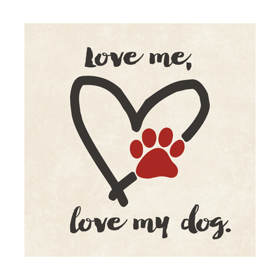 Love My Dog Print by Jo Moulton