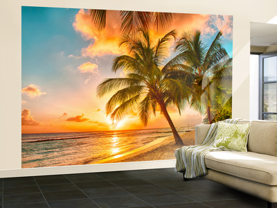 Barbados Palm Beach Vægplakat