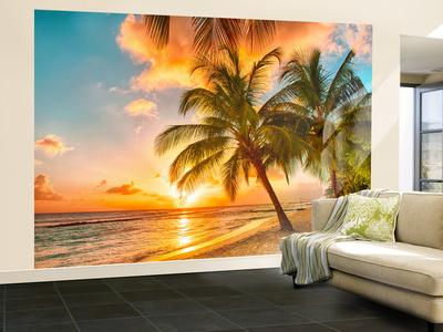 Barbados Palm Beach Wallpaper Mural